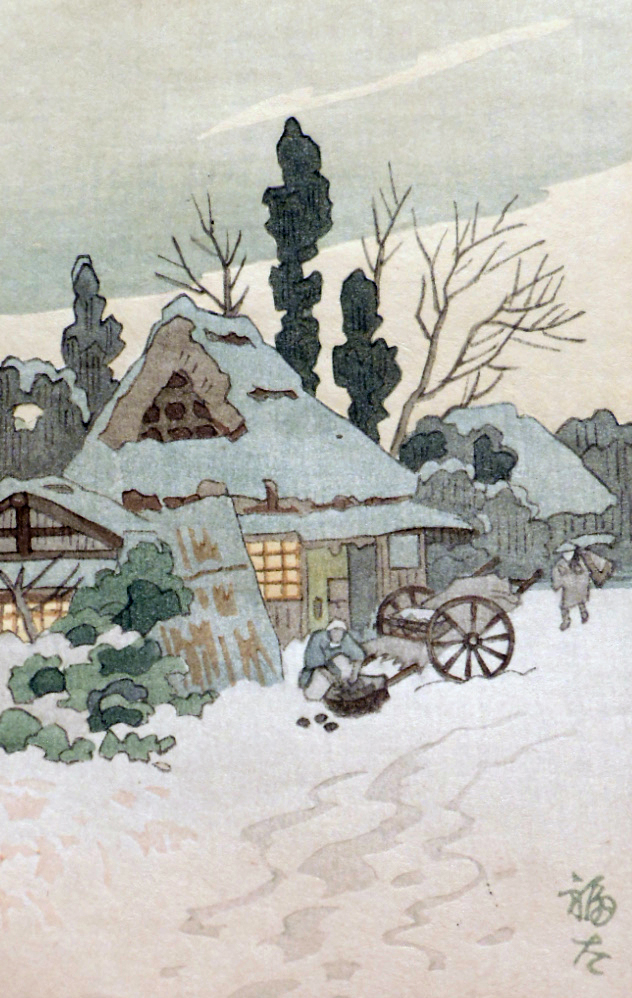 Enjoy the chill (and maybe even snow) of winter through the artistry of some of Japan's finest printmakers