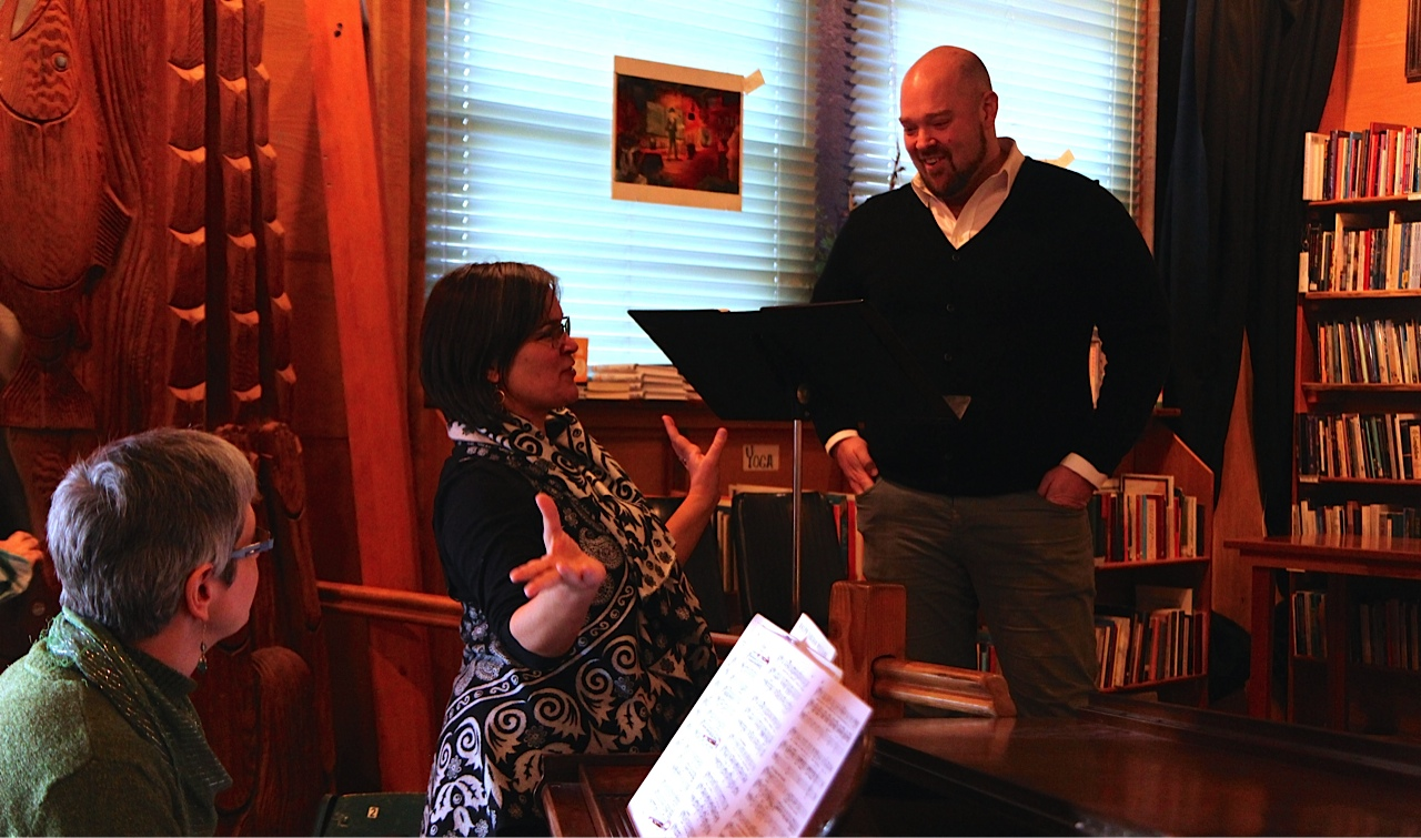 "Tsunami Books hosts a performance of ""art songs"" — poetry set to music by famous composers —  produced by Laura Wayte and featuring Washington tenor Brendan Tuohy and Eugene organist and pianist Julia Brown"