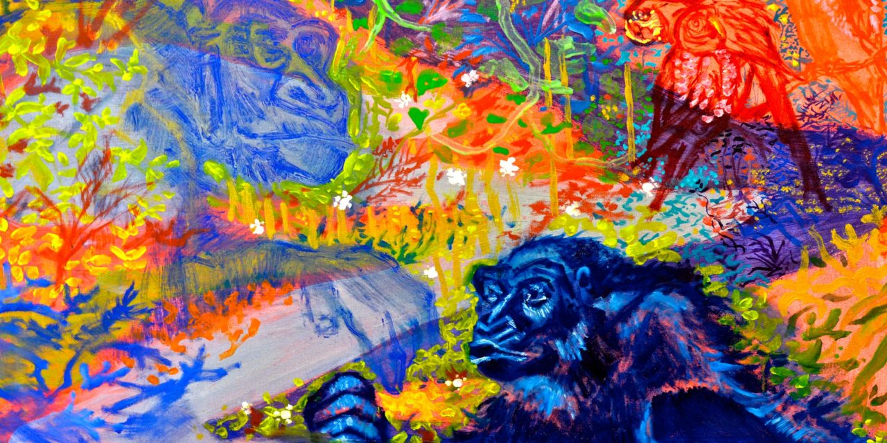 Fact and fantasy mingle in painter Benjamin Terrell's large canvases
