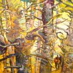 Northwest landscapes by Erik Sandgren fill the walls at the Karin Clarke Gallery