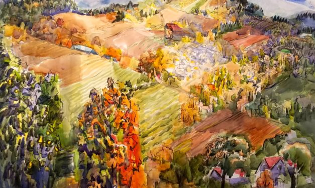 "Brighten up winter with a colorful visit to ""Five Oregon Painters"" at the Karin Clarke Gallery"